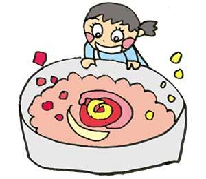 赤芋白芋同時発酵 バラ色のもろみ