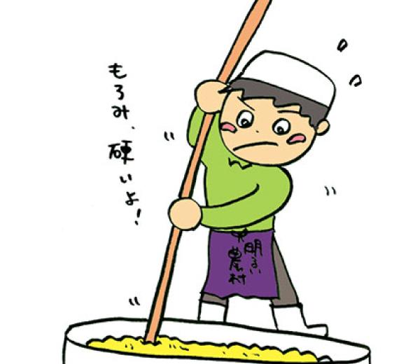 黄金芋焼芋 カイ入れ作業